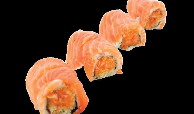 Roll seleccionado Crazy salmón (8 p)