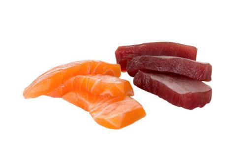 Sashimi Salmón y atún (12 piezas)
