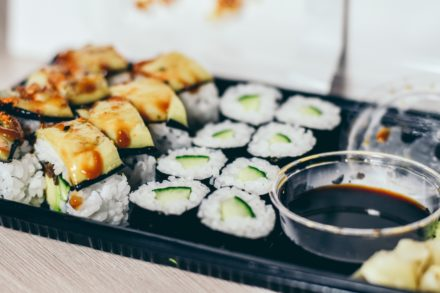 Pescados para el sushi a domicilio