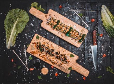 Plato con wasabi - Comida japonesa a domicilio valencia